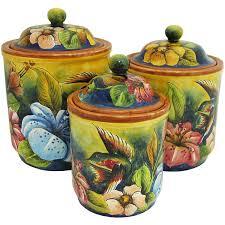 pottery kitchen canisters santa rosa majolica hummingbirdkitchen canister msr0024