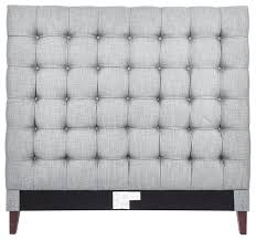 beethoven linen button tufted headboard transitional