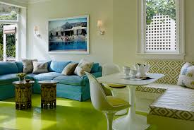 Tall Coffee Table Living Room Bright And Fun Living Room Features Chartreuse Green