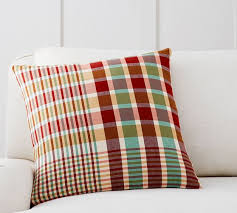 Pottery Barn Kilim Pillow Cover Cameron Plaid Pillow Cover Pottery Barn