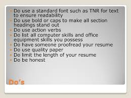 Office Equipment Skills For Resume Creating A Resume Business Technology Applications Stanley Ppt