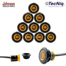 led side marker lights 10 pack 3 4 amber side marker led lights p2 rated johnson