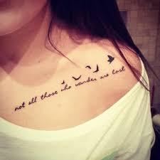 41 collar bone birds tattoos