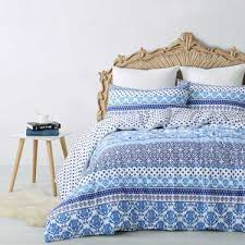 Blue Spot Duvet Cover Koo Ikat Dreams Quilt Cover Set