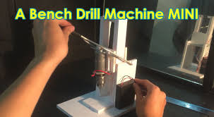 how to make a bench drill machine mini at home youtube