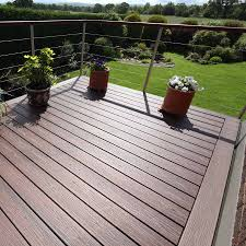 25mm x 140mm trex composite decking grooved board 3 66m lava rock