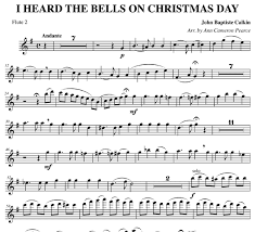 i heard the bells on day for handbells and flute
