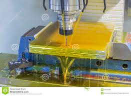 milling machine cnc with oil coolant stock photo image 49753290