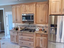 Natural Hickory Kitchen Cabinets Dining U0026 Kitchen Contemporary Kitchen Decoration By Great