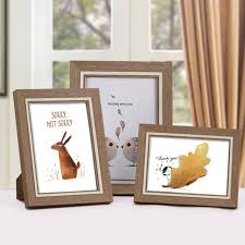 wedding gift photo frame retro wooden photo frame picture with stand holder desk picture