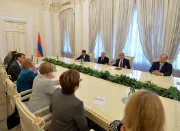 bureau president armenian president receives bureau members of the conference of
