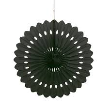 decorative fan black tissue paper decorative fan 16