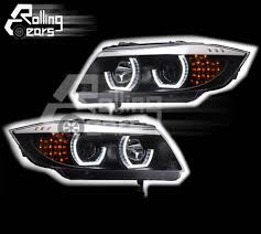 bmw e90 headlights rhd halogen head lamp set black for bmw e90 sedan saloon e91