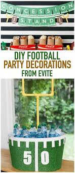 football party decorations diy football party decorations from evite ad homebowl crafty