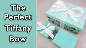 Tiffany And Co Gift Wrapping - how to tie the perfect tiffany and co bow youtube
