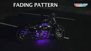 led strip lights for motorcycles purple led flexible motorcycle lighting kit youtube