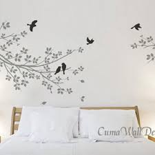 vinyl wall decals grey branch wall from cuma on etsy quotes and