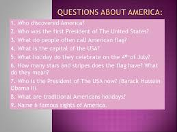 questions about america ppt