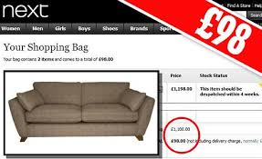 Cheap Armchairs For Sale Uk Next Mistakenly Offers Sofas For Sale At 98 Instead Of 1 198