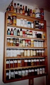 Old Fashioned Spice Rack Wall Hung Spice Rack Foter