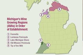 Michigan Wineries Map by Tip Of The Mitt Joins The Michigan Ava Wine Map Thewinebuzz