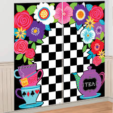 party city halloween scene setters alice in wonderland party wall decoration scene setter photo