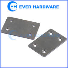 metal plate black galvanized sheet metal holes attached for screws
