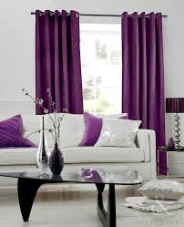 Living Room Curtains Modern Dark Purple Living Room Curtain And Trendy Club Floor Lamp