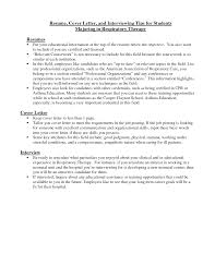 Examples Of Cover Letters For Resume by Respiratory Therapist Cover Letter Resume Cover Letter And
