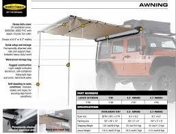 Jeep Wrangler Awning Sb2787 Awning Smittybilt Jeep Wrangler Jk Offex Pl