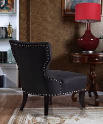 amazon com simpli home kitchener tufted accent chair charcoal
