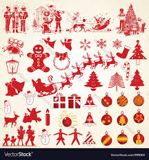 christmas silhouettes pack royalty free vector image