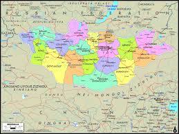 Wall Map Mongolia Political Wall Map Maps Com