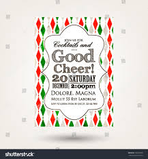 happy new year invitation merry christmas happy new year invitationvector stock vector