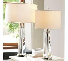 Pottery Barn Lamos Clear Crystal Lamp