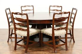 Mahogany Dining Room Set Sold Empire 1900 Antique 5 U0027 Round Mahogany Dining Table Extends