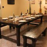 rustic dining table with bench rustic dining room table with