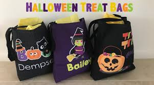 personalized trick or treat bags personalized kids treat bags