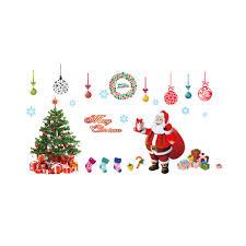 popular christmas sitting room buy cheap christmas sitting room popular christmas decoration glass window stickers santa claus and snow tree sitting room bedroom wall stickers