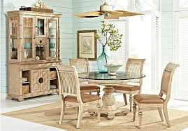 5 pc round pedestal dining table shop for a cindy crawford home key west light 5 pc pedestal dining