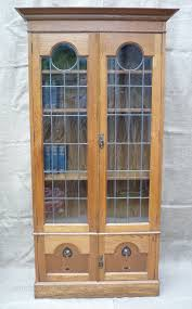 Arts Crafts Bookcase Inlaid Arts And Crafts Bookcase In Oak Antiques Atlas