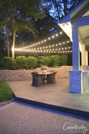 hanging outdoor string lights quick tips for hanging outdoor string lights