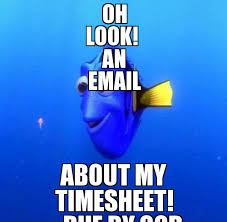 Dory Memes - dory oh look an email about my timesheet due by cob weknowmemes