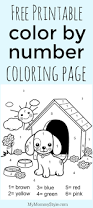color by number coloring page free printable my mommy style