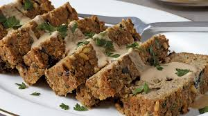 thanksgiving loaf chickpea u0026 eggplant loaf with tahini gravy sobeys inc