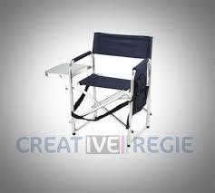 chaise metteur en chaise metteur en scène en aluminium avec tablette créative régie
