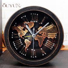 t harger horloge de bureau ouyun nostalgia alarm clock vintage wood table clock for