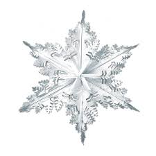 snowflake decorations club pack of 12 metallic silver winter snowflake hanging christmas