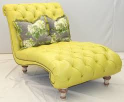 Tufted Leather Chaise Fly By Tufted Yellow Chaise