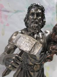 greek gods statues hephaestus blacksmith god statue